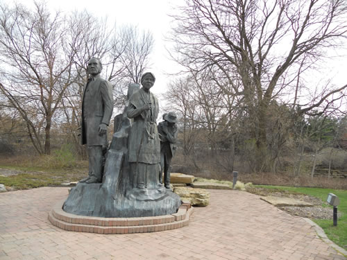 Underground Railroad Sculpture Battle Creek Michigan